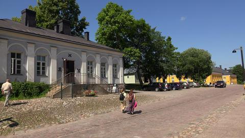 Lappeenranta. City streets. Finland. 4K Footage
