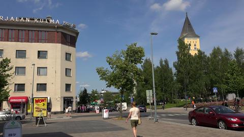The Church In Lappeenranta. Finland. 4K stock footage