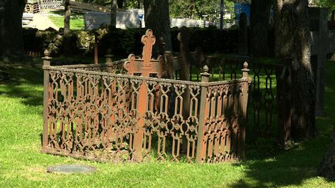 Cemetery in Lappeenranta. Finland. 4K Stock Video Footage