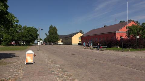 Lappeenranta. City streets. Finland. 4K Stock Video Footage