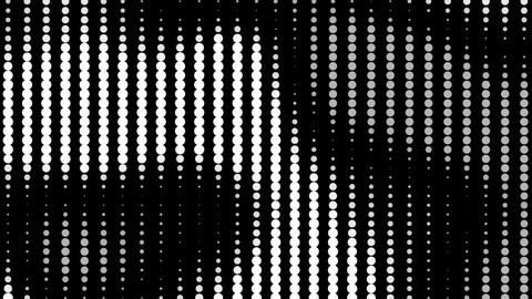 Black and white striped dots tapering Animation