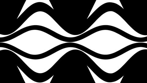 Black and white wavy zooming eye pattern Stock Video Footage