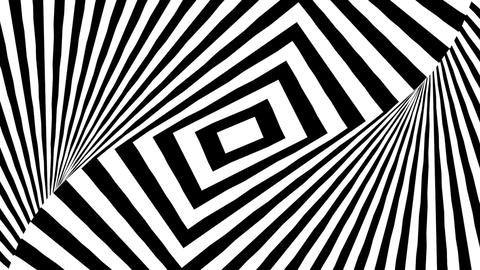 Black and white twisting rectangles Animation