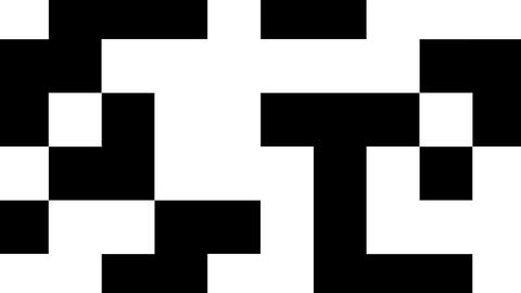 Black and white shifting squares Animation
