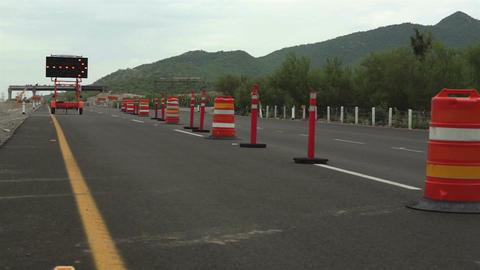 Detour Sign Construction Pylons Long Footage