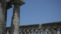 Greek Temples Under Blue Sky 29,97fps stock footage