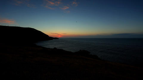 Timelapse sunrise in the mountains. Mountain Megan Stock Video Footage