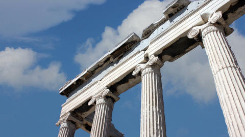 Acropolis Of Athens stock footage