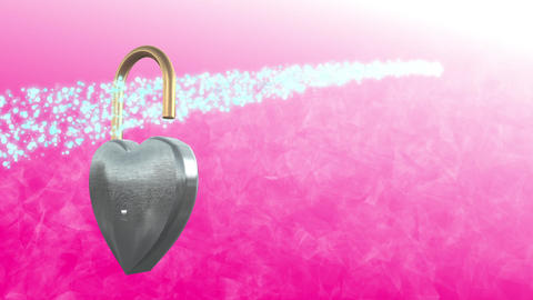 Heart Lock 1 stock footage