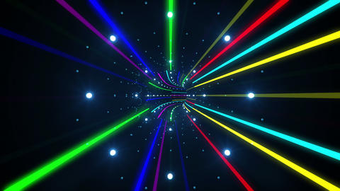 Tunnel Neon Tube AL 4 4k Stock Video Footage
