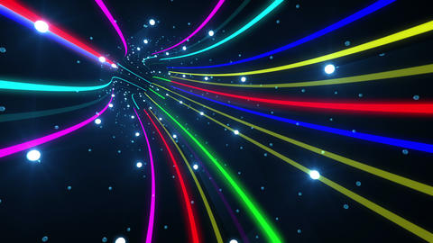Tunnel Neon Tube AL 4 4k Animation