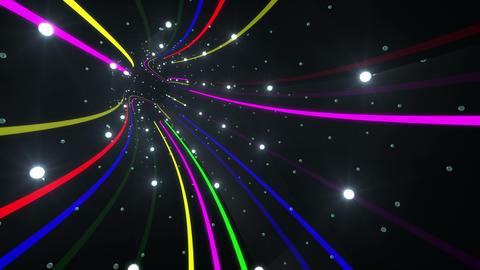 Tunnel Neon Tube AS 4 4k CG動画