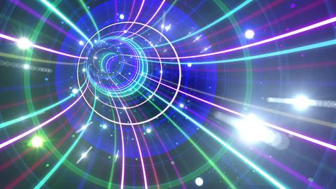 Tunnel Neon Tube BL 6 4k Animation