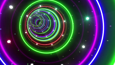 Tunnel Neon Tube CL 4 4k Animation