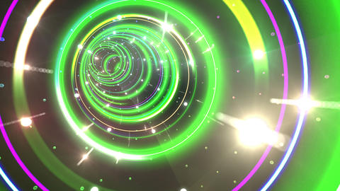 Tunnel Neon Tube CL 6 4k Animation