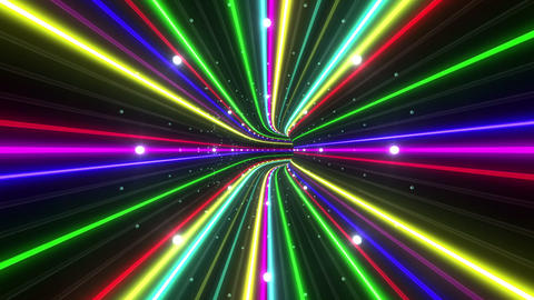 Tunnel Neon Tube EL 4 4k Stock Video Footage