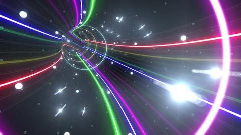 Tunnel Neon Tube FL 5 4k CG動画