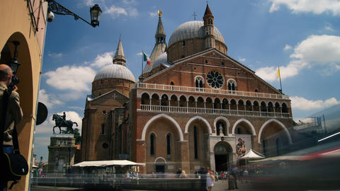 The Pontifical Basilica of Saint Anthony of Padua Stock Video Footage