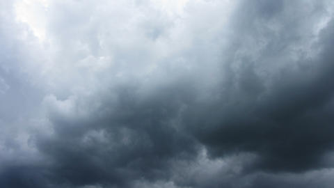 dark storm clouds are moving fast at viewer - time Stock Video Footage