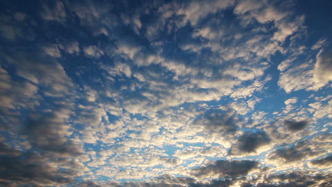 beautiful evening clouds background - timelapse Footage