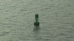 HD2008-8-10-9 channel marker buoy Stock Video Footage