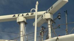 HD2008-8-10-57 cruise ship radar Stock Video Footage