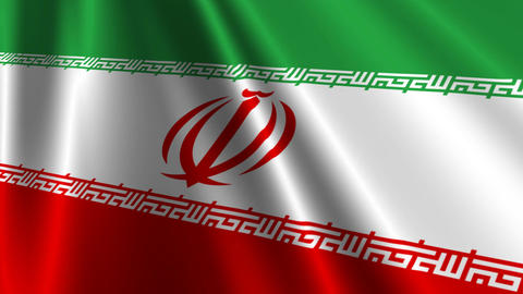 IranFlagLoop03 Stock Video Footage