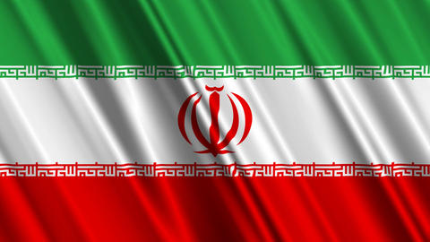IranFlagLoop01 Stock Video Footage