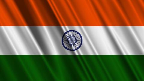 IndiaFlagLoop01 Stock Video Footage