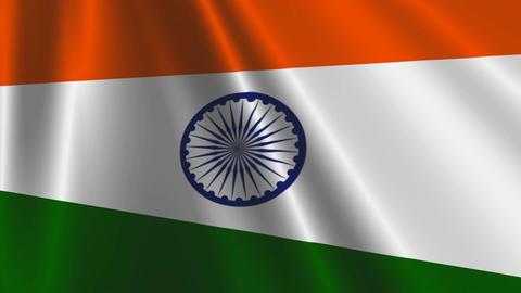 IndiaFlagLoop03 Stock Video Footage