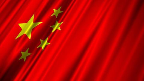 ChinaFlagLoop02 Stock Video Footage