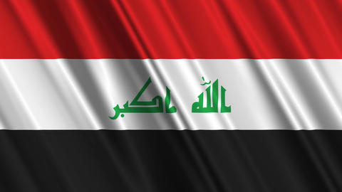 IraqFlagLoop01 Stock Video Footage