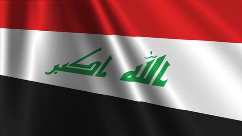 IraqFlagLoop03 Stock Video Footage