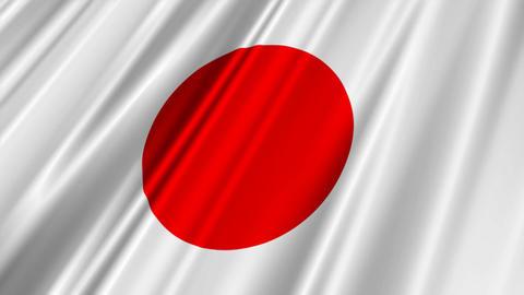 JapanFlagLoop02 Stock Video Footage