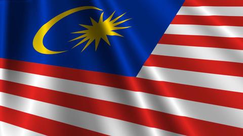 MalaysiaFlagLoop03 Stock Video Footage