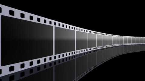 Film Strip D01b Stock Video Footage