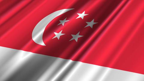 SingaporeFlagLoop02 Animation