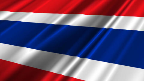 ThailandFlagLoop02 Stock Video Footage