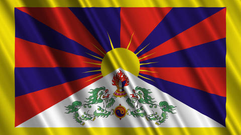TibetFlagLoop01 Stock Video Footage
