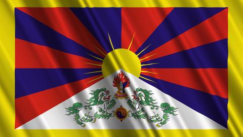 TibetFlagLoop01 Animation