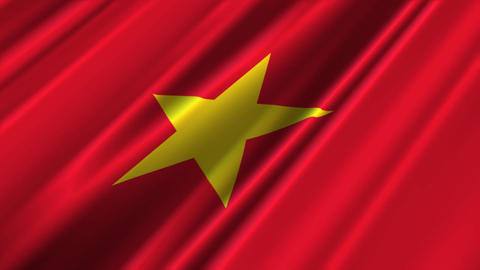VietnamFlagLoop02 Stock Video Footage