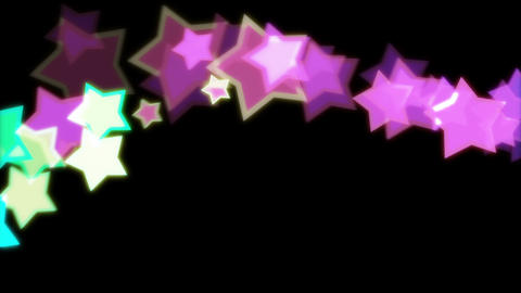 STAR sideways Stock Video Footage