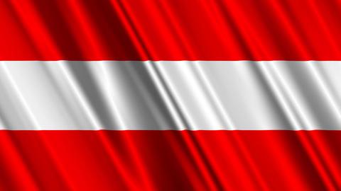 AustriaFlagLoop01 Stock Video Footage