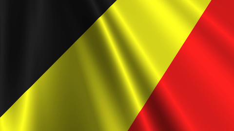 BelgiumFlagLoop03 Stock Video Footage