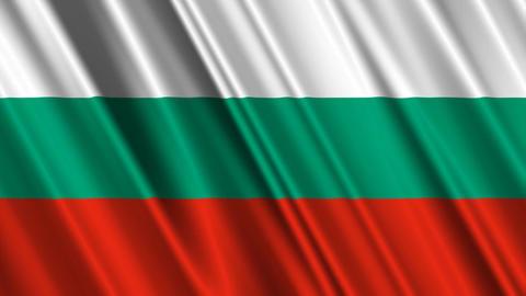 BulgariaFlagLoop01 Stock Video Footage