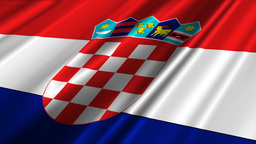 CroatiaFlagLoop02 Stock Video Footage