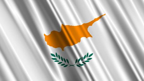 CyprusFlagLoop01 Stock Video Footage