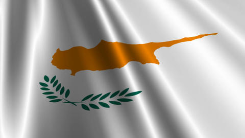 CyprusFlagLoop03 Stock Video Footage