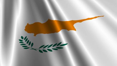 CyprusFlagLoop03 Stock Video Footage