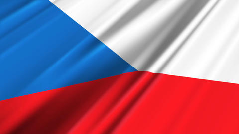 CzechRepublicFlagLoop02 Stock Video Footage